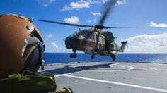 Operation Pacific Assist 2015.The MRH90 conducts deck landing and recovering procedures on HMAS Tobruk, during the ship's transit to Vanuatu. (Defence) Two Australian Army Black Hawks and a Navy MRH90 Taipan are joining relief efforts in Vanuata in the wake of Cyclone Pam  A RAAF Boeing C-17 was due to airlift the two Black Hawks to Vanuatu in an effort to boost the availability of tactical transport aircraft serving outlying areas, while the RAN's amphibious heavy-lift ship HMAS Tobruk…