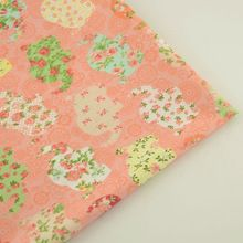 Flowers and Leaf Design Printed Cotton Fabric Quilting Bedding Pink Color for Scrapbooking Patchwork Sewing Teramile Baby Cloth(China (Mainland))