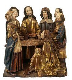 Museum Kurhaus Kleve. Christus im Hause von Martha (Altarrelief), Ulm, 16. Jahrhundert