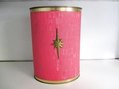 Bright Pink Vintage Mid Century Bathroom by Truckstopcarnival