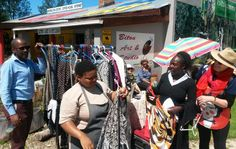 Our morning market (Marion E Nearly New) clothing stall @ Stormsriver Village