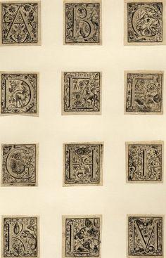marinni | Братья de Bry. 16 век. Алфавит и гравюры.