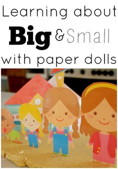 Family Paper Dolls: Learning Big and Small with Preschoolers #PlayfulPreschool