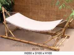get bamboo hammock stand ideas hd Bamboo Art, Bamboo Crafts, Bamboo Garden, Bamboo Ideas, Diy Hammock, Hammock Stand, Portable Hammock, Bamboo Furniture, Diy Furniture