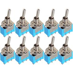 10 pc/LOT Biru Mini MTS-102 3-Pin SPDT ON-ON 6A 125VAC Miniatur Beralih Switch VE067 P