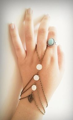 Slave Bracelet Boho Hand Bracelet Bohemianism by BeUniqueJewellery, £11.63