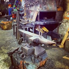 local #blacksmith has offered to share his gorgeous #shop in #germany #studio