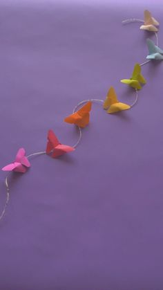 How to create origami butterfly creative crafts to keep your kids busy page 46 Paper Flowers Craft, Paper Crafts Origami, Diy Origami, Origami Tutorial, Paper Crafting, Origami Garland, Hanging Origami, Cute Origami, Flower Paper