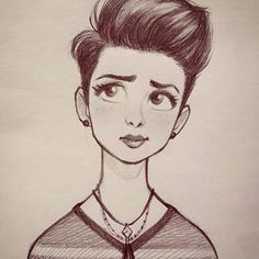 #cameronmark #art #design #illustration #drawing #pixiecut #sketch #doodle