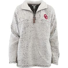 Three Squared Juniors' University of Oklahoma Poodle Pullover Jacket (Grey, Size Large) - NCAA Licensed Product, NCAA Men's Fleece/Jackets at Acade...
