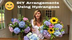DIY Flower Arrangements Using Hydrangeas Incrediball Hydrangea, Annabelle Hydrangea, Endless Summer Hydrangea, Hydrangea Care, Flower Farmer, Autumn Garden, Summer Diy, Flower Images, Floral Bouquets