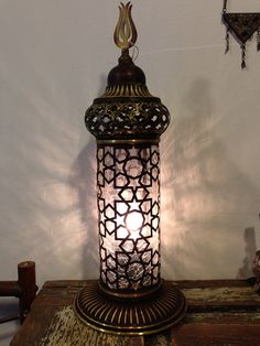 SALE / Authentic Moroccan Style Lamp  Exotic Night by JAYBAZAAR, $120.00
