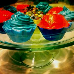 Color power cupcakes