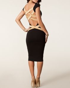Back Strips Itstyle Sexy Dress. Two-ways wearing. Work dress in day, party dress at night.  Shop it for $33.99 just on Itstyle.co. We provide special discount to celebrate Easter now!