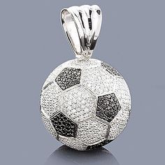 Soccer Jewelry for Women | Soccer Jewelry: 18K Gold Diamond Soccer Ball Necklace