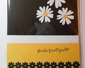 Cute black and yellow thank you card