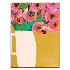 """Artist Lane Jug by Anna Blatman Painting Print on Wrapped Canvas Size: 40"""" H x 30"""" W x 1.5"""" D"""