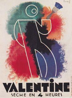 ANNÉES 20 - FRANCE - Charles Loupot - publicité pour Valentine