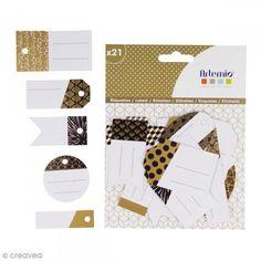 Etiquetas de regalo - Gold - 6 cm - 21 pcs - Fotografía n°1 Cards Against Humanity, Html, Boutique, Collection, Festivus, Diy, Gold, Manualidades, Goodie Bags