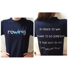 Unisex Adult T-Shirts Rowing Workout, Workout Wear, Yoga Workouts, Workout Outfits, Workout Tanks, Rowing Memes, Rowing Quotes, Rowing Team, Rowing Crew