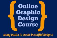 Learn graphic design using basic office software in this 4 week online course for only $25--such a good skill to have!