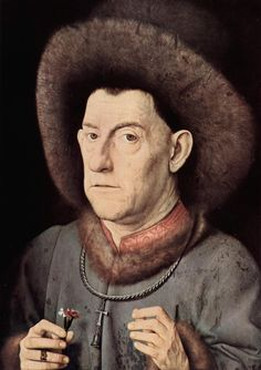 Portrait of a man with carnation, 1435 // By Jan Van Eyck