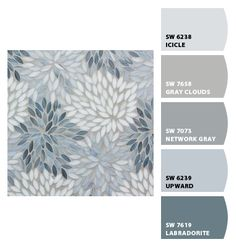 Exterior paint colora for house blue gray master bath 16 ideas Blue Paint Colors, Paint Color Schemes, Exterior Paint Colors, Paint Colors For Home, House Colors, Gray Accent Colors, Color Schemes With Gray, Basement Color Schemes, Office Paint Colors