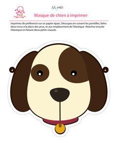 Imprimez votre masque de chien pour le carnaval par exemple ! Wouf ! About Uk, About Me Blog, Box Patterns, Mardi Gras, The Creator, Fine Art Prints, Teddy Bear, Scrapbook, Halloween
