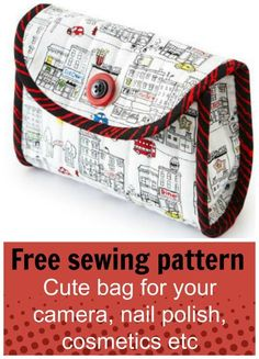 Quilted camera case – free pattern