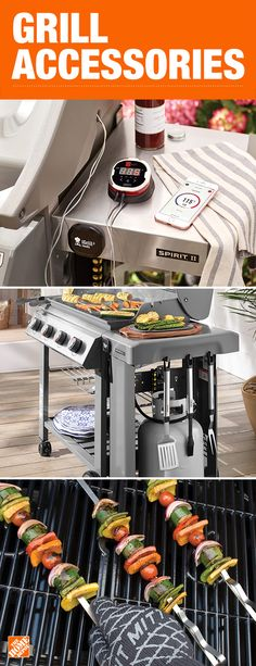 Grill accessories make great gifts for Dad. From grill utensils to app-connected thermometers, The Home Depot has a variety of grilling gift options. Click to shop our wide selection.