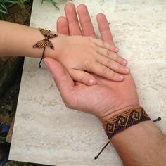 Endless wave macrame bracelet Mens bracelet by ARTofCecilia