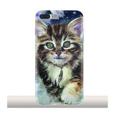 SnowCat, Coque souple iPhone 7 Plus - KAJENNA ART - KINGHOUSSE #iphonecase #phonecases #iphone7pluscase #chaton #snowcat #neige #chat