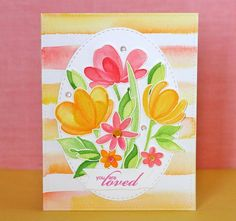 Have you seen this stamp set called Spring Flowers by Simon Says Stamp? The minute I saw it, I wanted it. But it was out of stock as soon as it was up for sale. I guess I wasn't the...