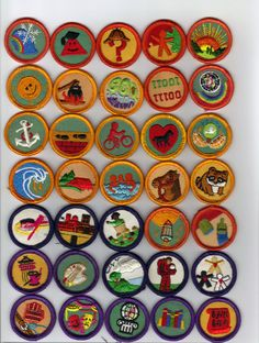 Vintage 1980's Girl Scouts Badges - Awards - Patches - Merit - Pins - Lot of 128 pieces