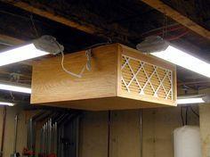 Homemade woodworking workshop filtration system