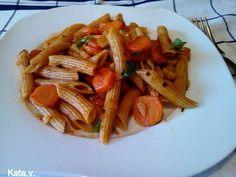 Update tésztás zöldségragu Katától Ketchup, Spaghetti, Curry, Ethnic Recipes, Food, Curries, Essen, Yemek, Spaghetti Noodles