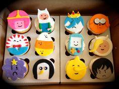 Adventure Time Cupcakes - by Prettycupcake @ CakesDecor.com - cake decorating website