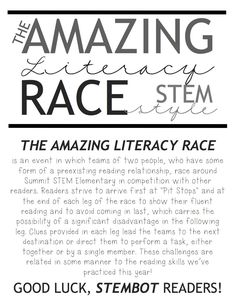 Two Can Do It: The Amazing Race (Literacy Version)