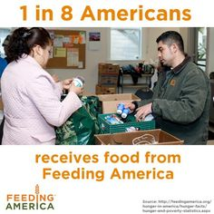 Food Lifeline, a local affiliate of Feeding America, provides food we serve at Community Lunch.  Thanks!