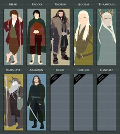 The Hobbit and Lord of the Rings bookmarks