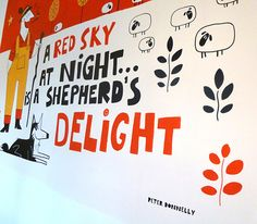 Children's Gallery Mural by Peter Donnelly, via Behance