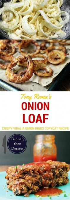 Tony Roma's Copycat Onion Loaf - This delicious onion loaf is like crispy thin onion straws baked together and crispy that are just begging to be dipped in the delicious original recipe BBQ sauce.