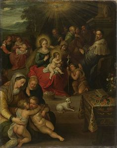 1616, Frans Francken the Younger (1581- 1642) Allegory of the Christ Child as the Lamb of God,oil on copper,43×34 cm,Rijksmuseum Amsterdam.