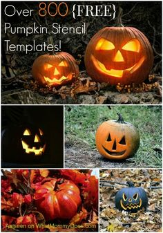 Every year we carve at least 5 jack-o-lanterns. I found this awesome resource of over 800 pumpkin carving patterns - from Disney pumpkin stencils for kids to scary / happy pumpkin faces, pretty designs, and easy word outlines. Grab these free templates to Disney Pumpkin Stencils, Halloween Pumpkin Stencils, Disney Pumpkin Carving, Halloween Pumpkins, Easy Pumpkin Carving Patterns, Pumpkin Carving Stencils Free, Pumpkin Carvings, Halloween Templates, Halloween Ideas