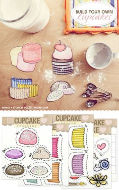 Free Printable: Build Your Own Cupcakes - Home - Creature Comforts - daily inspiration, style, diy projects + freebies