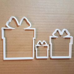 efcbe1eb37b32 Present Gift Christmas Xmas Birthday Cookie Cutter Shape Pastry Dough  Biscuit Stencil Fondant Sharp