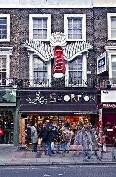 Shopping in Camden Town, London