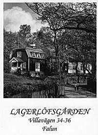 Selma Lagerlöf flyttar till Villagatan i Falun - SR Minnen.. Mellan åren 1897 och 1909 bor Selma i Falun. Det är här som hon skriver romanerna Jerusalem, Herr Arnes penningar och Nils Holgersson. Selma ägde Lagerlöfs-gården ända fram till sin död 1940. Huset brann ner på 60-talet.