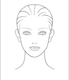 photograph about Makeup Face Template Printable identified as Most straightforward Blank Facial area Template For Hair And Make-up For On your own