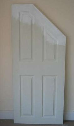 How to cut down a hollow door for a sloped angled opening.